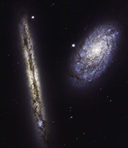 New Hubble Image of Spiral Galaxies NGC 4302 and NGC 4298