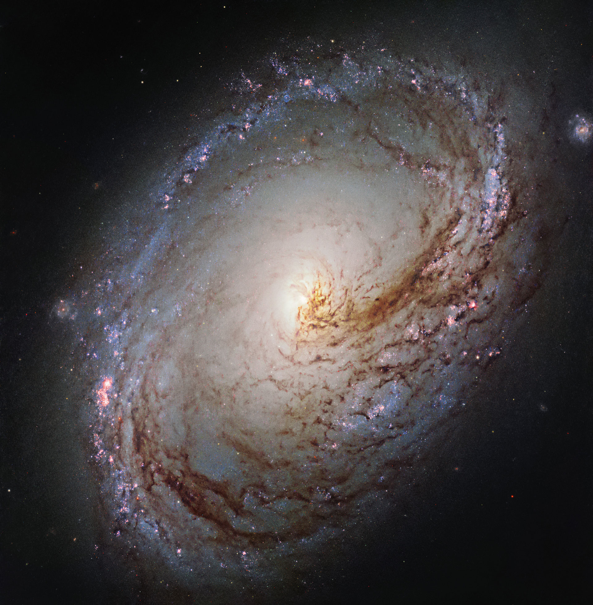 Newly Released Hubble Image of Spiral Galaxy Messier 96