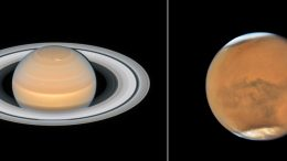 New Hubble Photos of Mars and Saturn