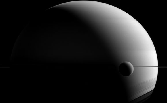 New Image from the Cassini Spacecraft of Saturn and Titan