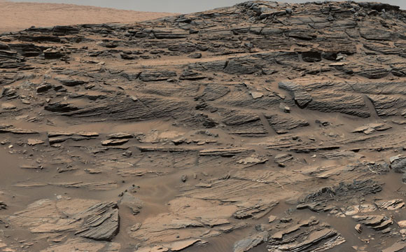 New Image from the Mars Curiosity Rover Reveals Petrified Sand Dunes