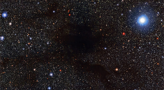 New Image of Lupus 4 Spider Shaped Blob of Gas and Dust