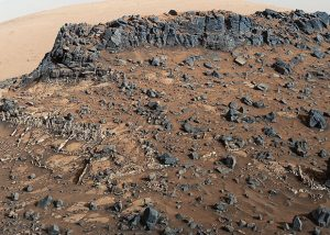 New Image of Mount Sharp from NASA's Curiosity Mars Rover