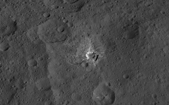 New Image of Oxo Crater on Ceres