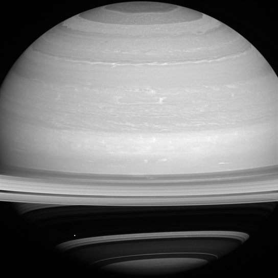 New Image of Saturns Moon Mimas