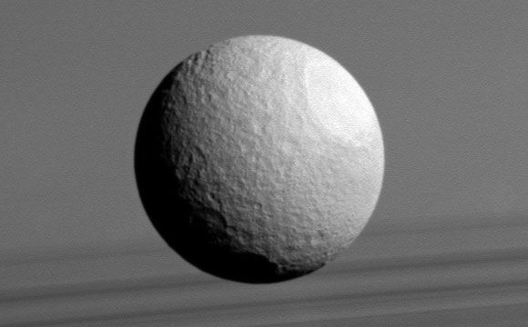New Image of Saturn's Moon Tethys
