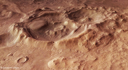 New Image of the Craters within the Hellas Basin of Mars