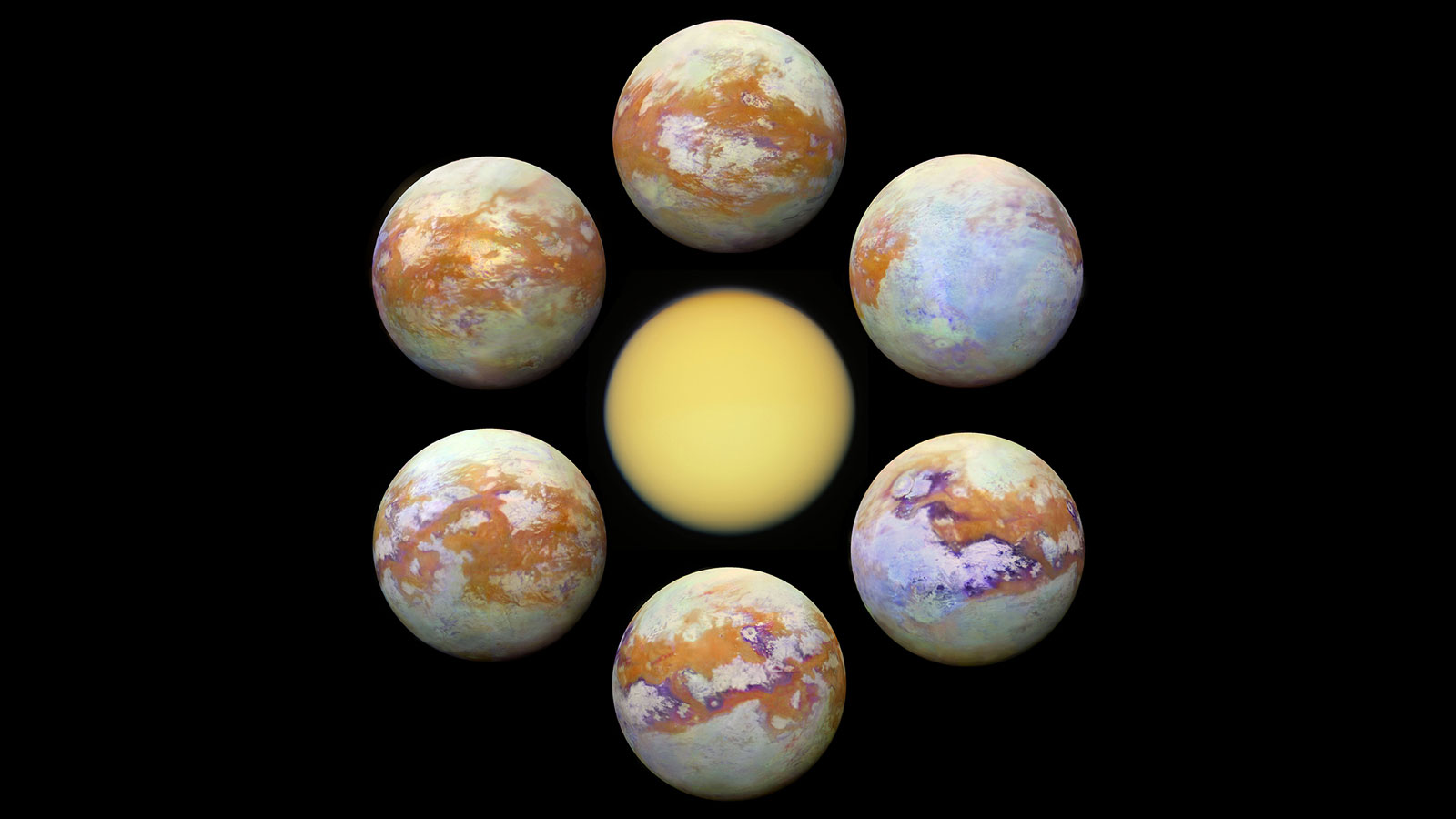 Six New Infrared Images Of Saturn S Moon Titan Are The