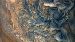 New Juno Image From High Above Jupiter's Clouds