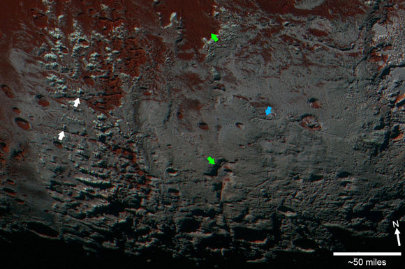 New Pluto Image Shows Methane Snowcaps on the Edge of Darkness