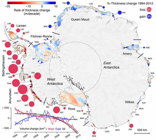 New Research Reveals Antarctic Ice Shelves Rapidly Thinning