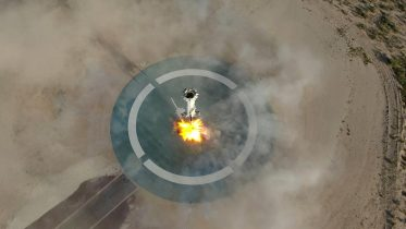 New Shepard Booster Lands Crop