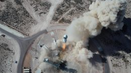 New Shepard Lifts Off From Blue Origin's Launch Site One