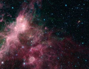 New Spitzer Image Shows the Birth and Death of Stars