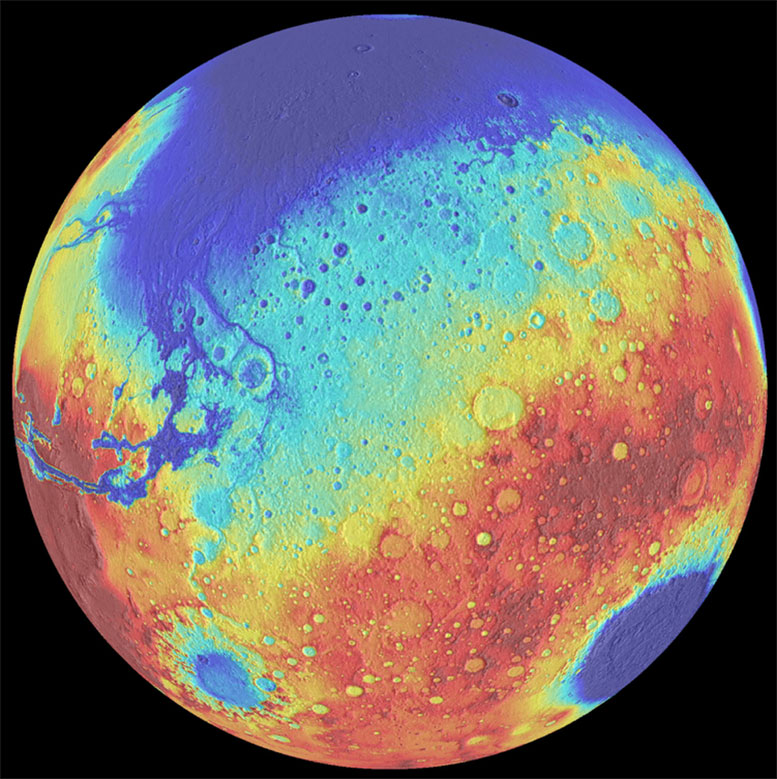New Study Reveals Lull in the Formation Time of Mega Basins on Mars