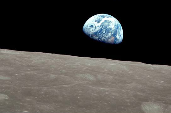 New nasa video recreates apollo 8 39 s historic flight images for Earth rising wall mural