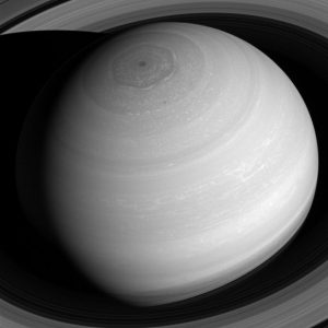New View from Cassini Above Saturn