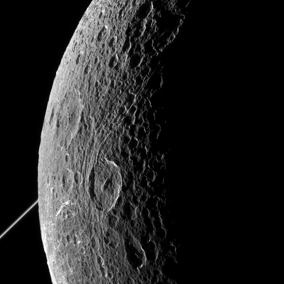New View of Saturn's Moon Dione
