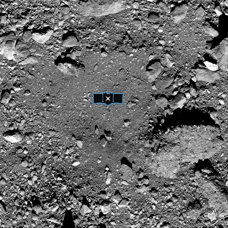 Sample site of the nightingale on Bennu