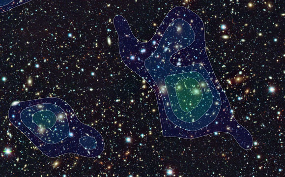 Nine Large Concentrations of Dark Matter Revealed