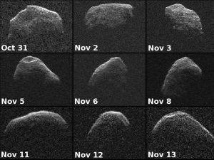 Nine new radar images of near-Earth asteroid 2012 PA8