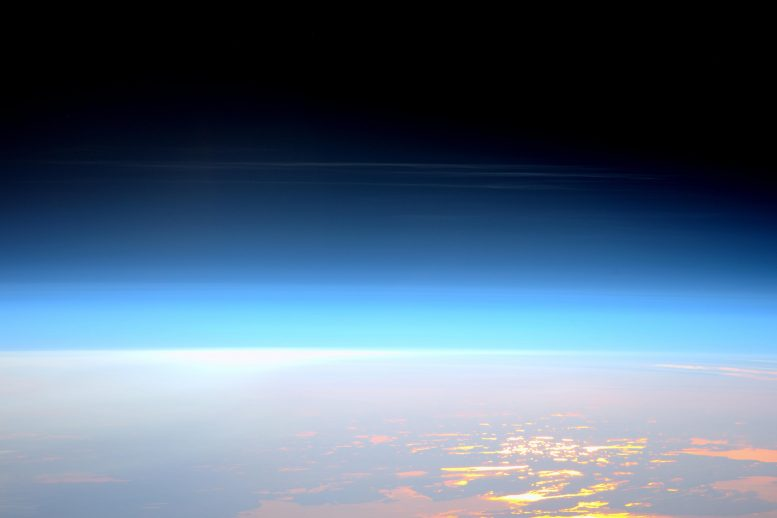 """Noctilucent or """"Night Shining"""" Clouds Forming in the Mesosphere"""