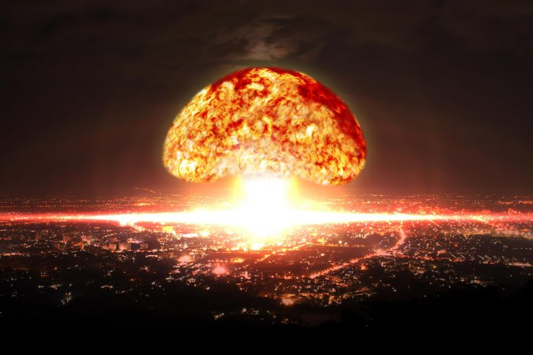Nuclear Bomb Explosion in City