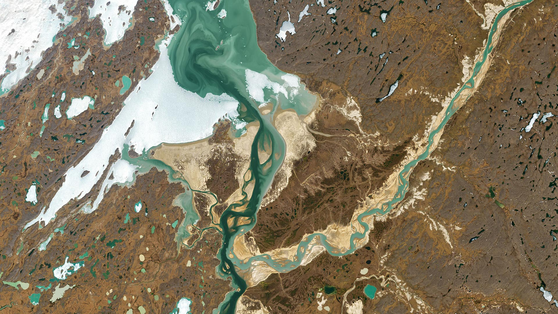 A Striking Colorful Confluence in the Canadian Arctic