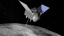 OSIRIS-REx Spacecraft Extending Sampling Arm
