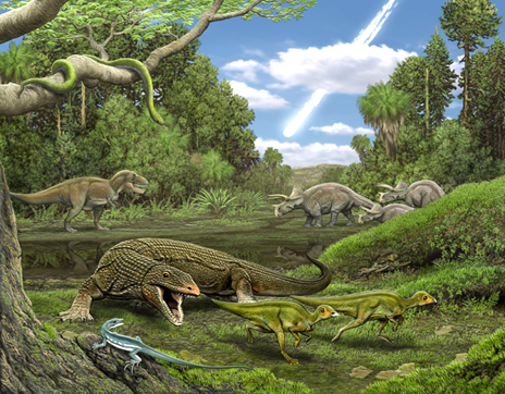 Dinosaurs Jurassic Asteroid Collision Led to the Mass Extinction of Lizards and Snakes Obamadon-gracilis