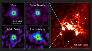 Observations of the First Hot Core Found Outside the Milky Way
