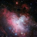 Old Stars in Eagle Nebula Show Evidence for Accretion