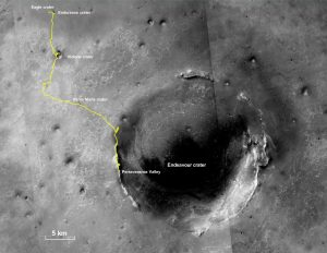 Opportunity's Final Traverse Map