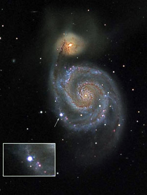 Optical Image of Galaxy Messier 51