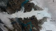 Optical Image of Jakobshavn Glacier in Western Greenland Shows Massive Calving Event