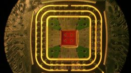 Optical micrograph of the 8-channel CMOS voltage-clamp current preamplifier