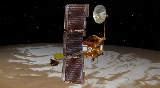 Orbiter Repositioned for Mars Landing