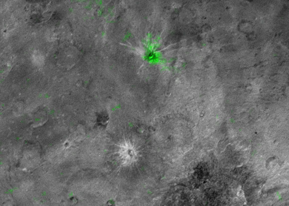 Organa Crater is Rich in Frozen Ammonia