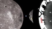 Orion Spacecraft Near the Moon