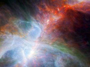 Orion nebula highlights fledging stars hidden in the gas and clouds