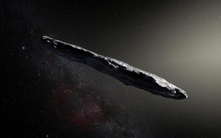 Oumuamua Artists Impression
