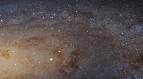 Panoramic View of the Andromeda Galaxy from Hubble