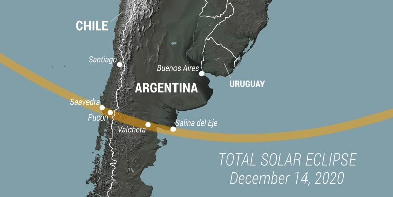 Path of 2020 Eclipse in South America