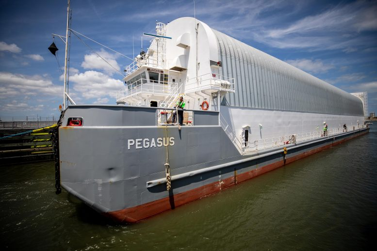 Pegasus Barge Carrying Space Launch System