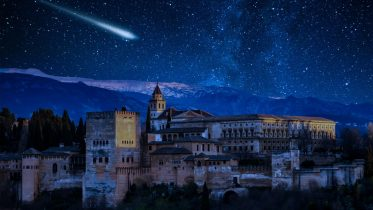 Perseid Meteor Shower Over Alhambra
