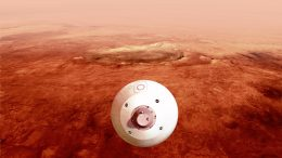 Perseverance Guides Itself Towards Mars Surface