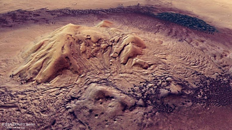 Perspective View Moreux Crater