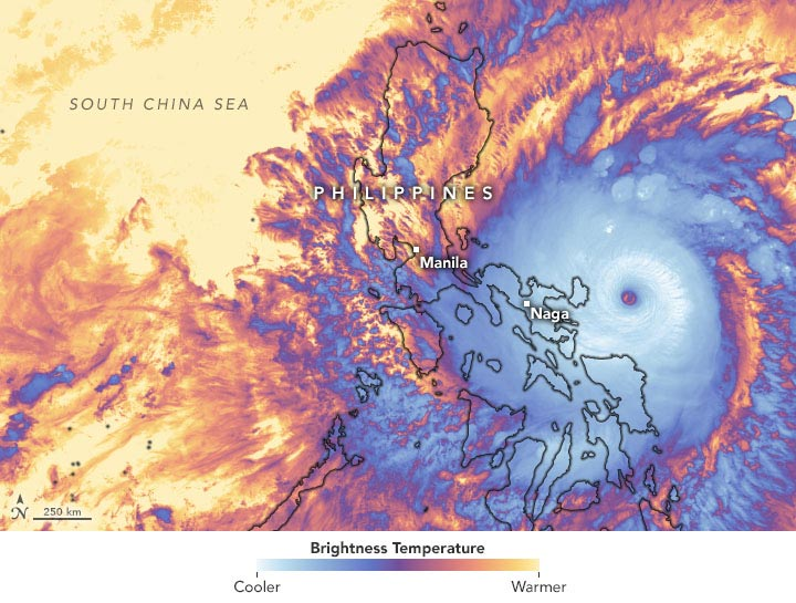 Philippines Super Typhoon Goni Infrared Annotated