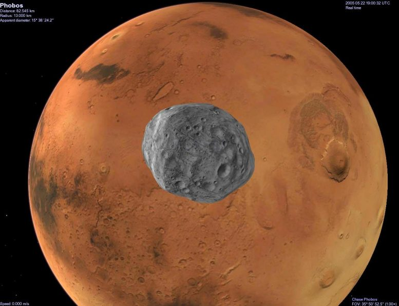 Phobos Orbits Mars