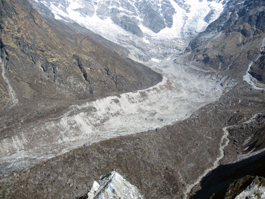 Photo of the Lirung glacier